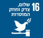 16 שלום, צדק וחוזק המוסדות